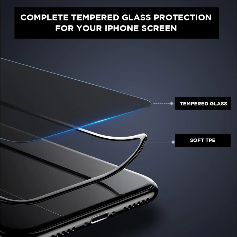 Tempered Glass Anti-spy Curved Black Rimmed iPhone Screen Protector
