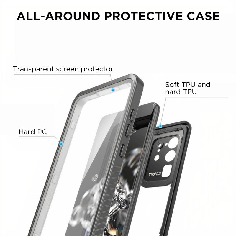 Full Body Waterproof Samsung Galaxy S Case for depths up to 6.6 ft (2 meters)