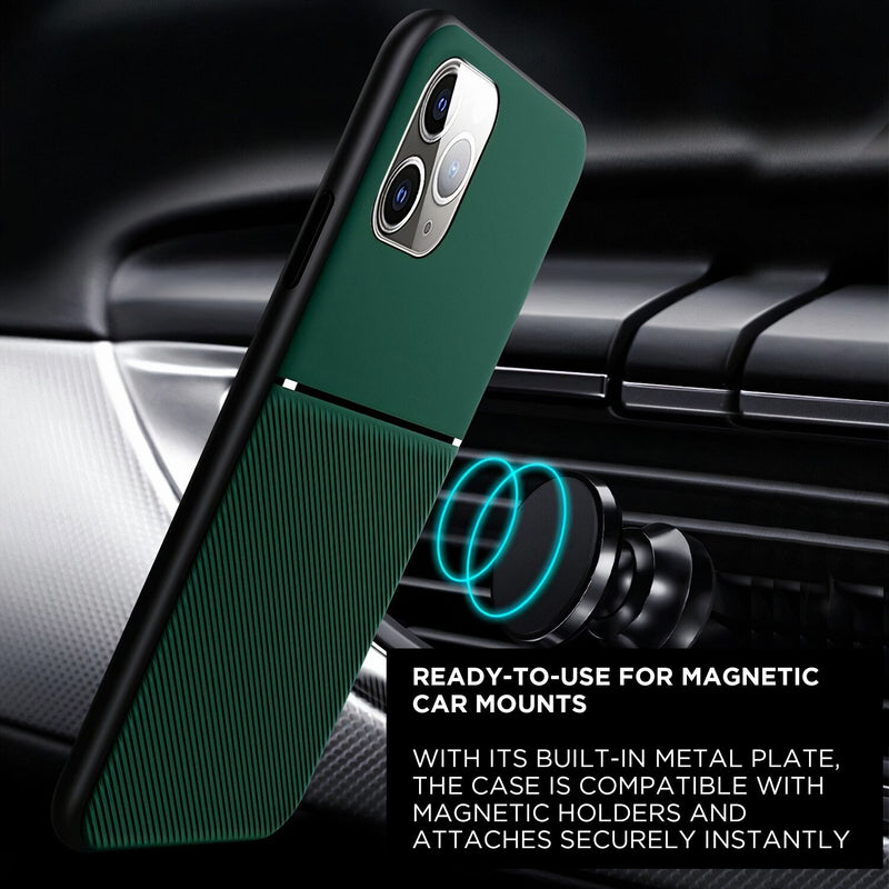 Matte Color iPhone Case Compatible with Magnetic Holder