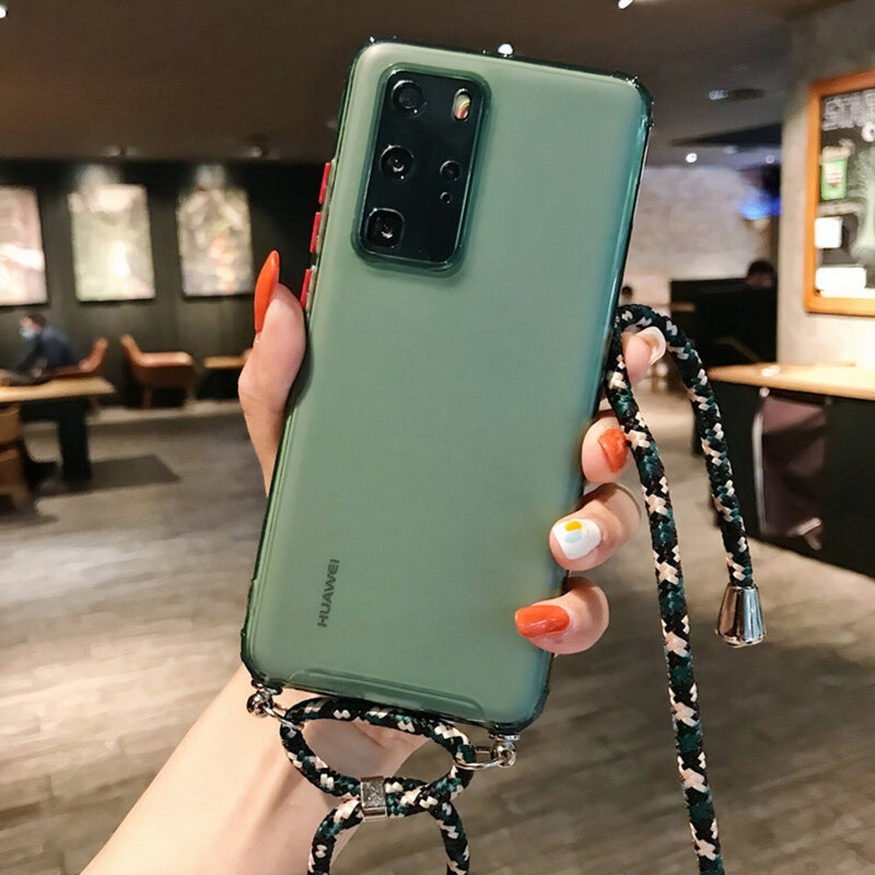 Colored Huawei Mate Case with Braided Lanyard Strap