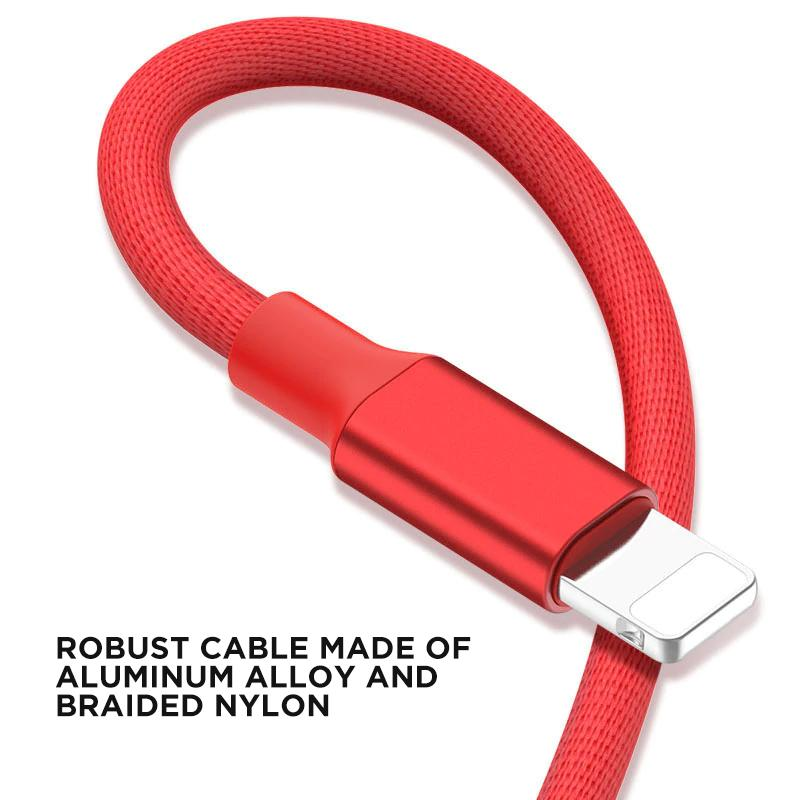 braided nylon iphone cable