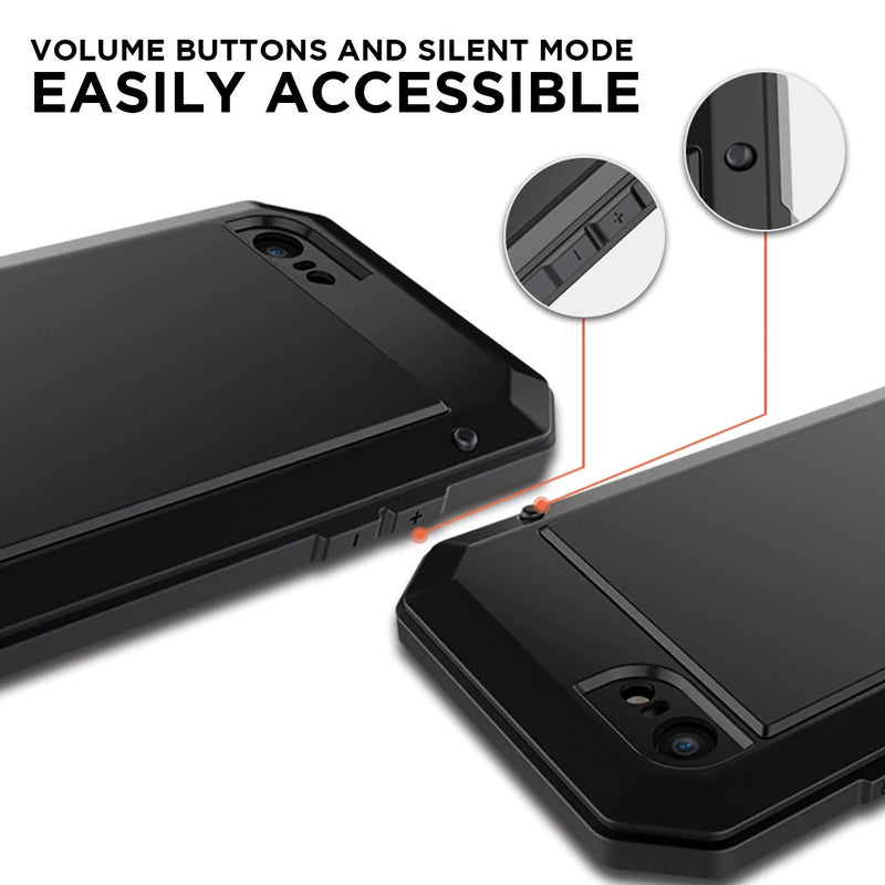 full body iphone case with easy access to silent mode