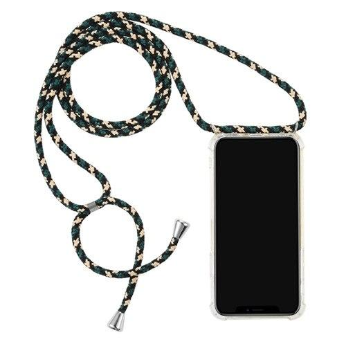 Transparent iPhone Case with Neck Strap