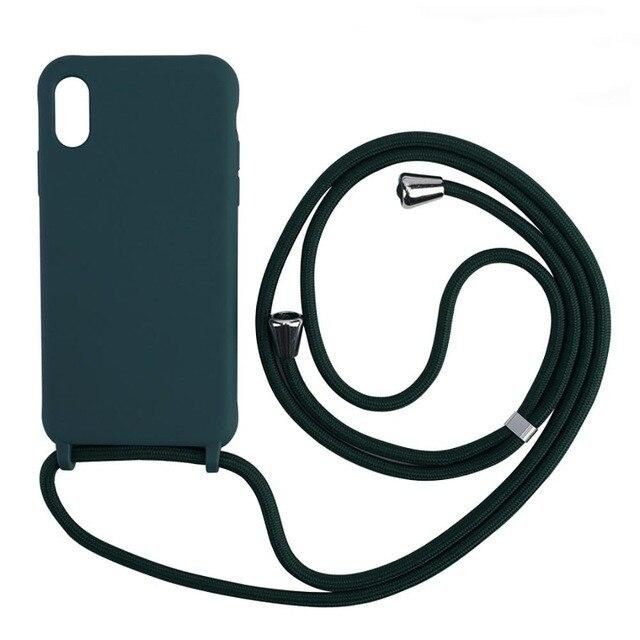 Lanyard Strap Necklace Soft iPhone Case