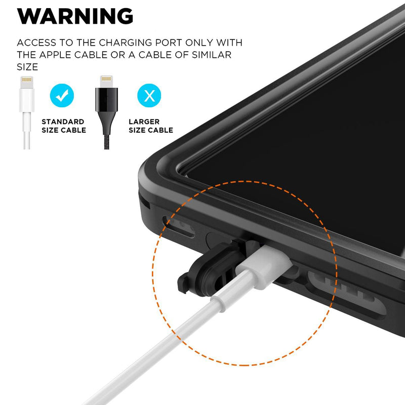 waterproof case with charging port