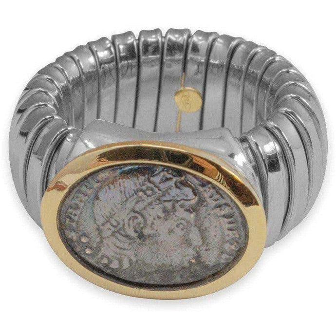Anello con Moneta Antica Argento 925 - Museum-Shop.it