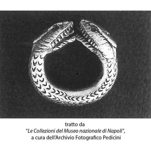 Anello con Serpente a due teste da Oplonti (Pompei) Argento 925 - Museum-Shop.it