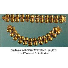 Load image into Gallery viewer, Armilla a Semisfera di Ercolano, Bracciale Argento 925 placcato ORO 18K - Museum-Shop.it
