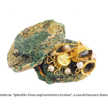 Load image into Gallery viewer, Orecchini a Spicchio di Sfera Liscia di Pompei Argento 925 placcato ORO 18K - Museum-Shop.it
