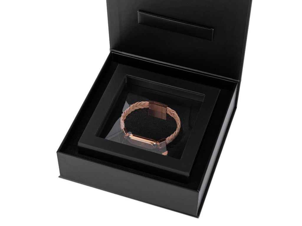wireless_earth_bracelet_premium_edition_braided_leather_rose_gold_box_5g_technology