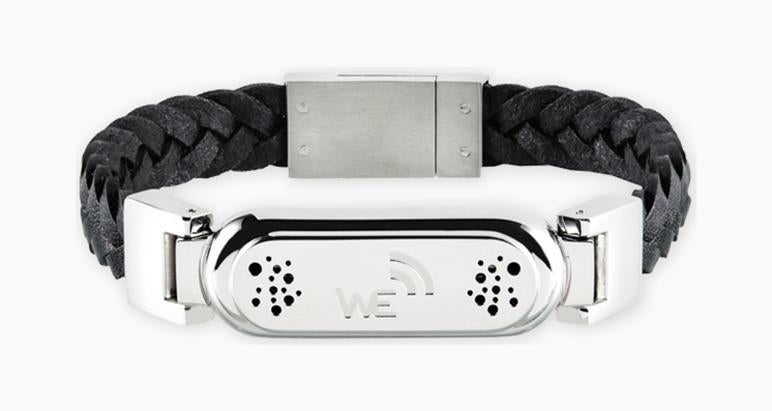 wireless_earth_bracelet_braided_leather_black_5g technology