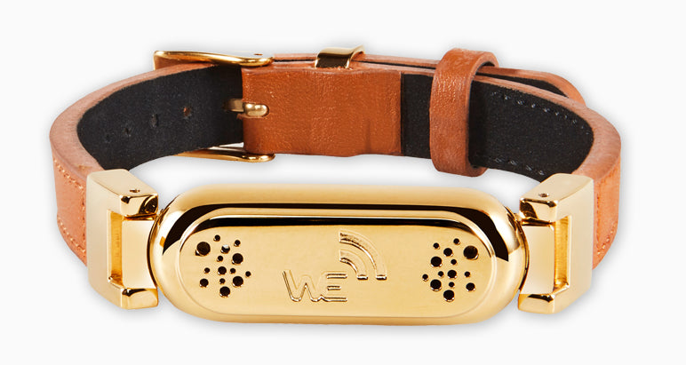 wireless_earth_bracelet_premium_edition_leather_gold_front_5g_technology