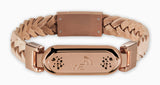 wireless_earth_bracelet_premium_edition_braided_leather_rose_gold_front_5g_technology