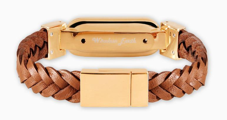 wireless_earth_bracelet_premium_edition_braided_leather_gold_back_5g-technology