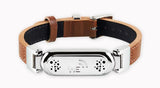 wireless_earth_bracelet_leather_leather_brown_front_5g_technology
