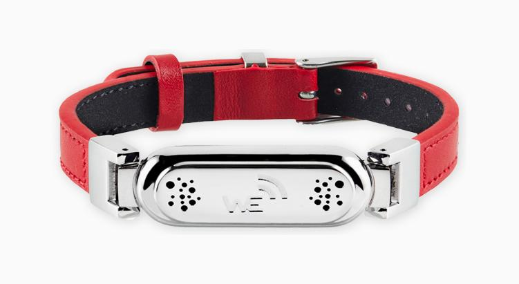 wireless_earth_bracelet_leather_red_front_5g_technology