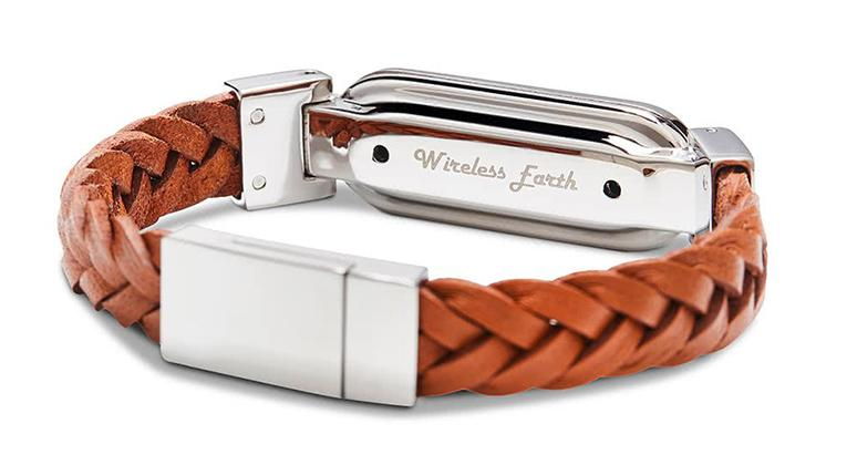 wireless_earth_bracelet_braided_leather_leather_brown_back_5g_technology