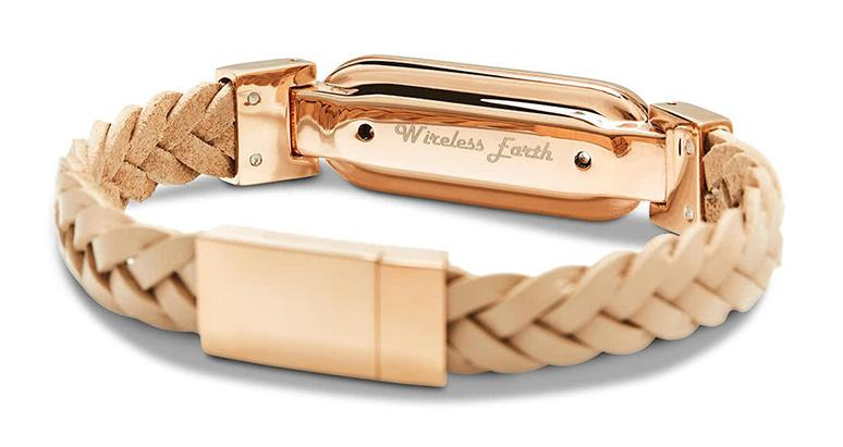 wireless_earth_bracelet_premium_edition_braided_leather_rose_gold_back_5g_technology