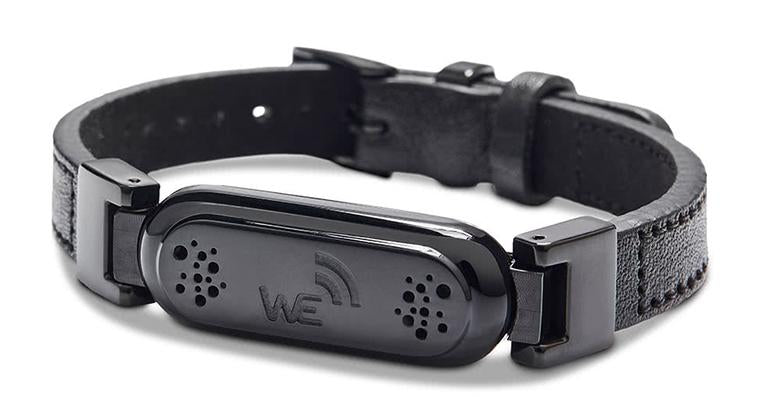 wireless_earth_bracelet_premium_edition_leather_black_front_5g_technology