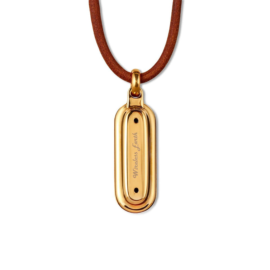 Wireless Earth Necklace Gold