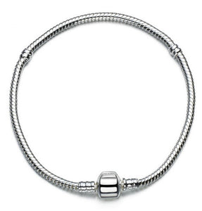 Bracelet Snake Chain, 4mm, 925 Sterling Silver, Fitted - SE Collegiate Gifts