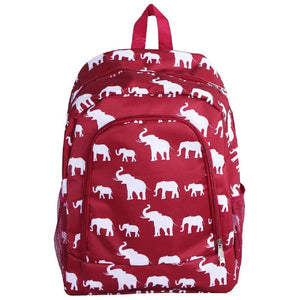 "Elephant Printed Lightweight Backpack - 16.5"" - SE Collegiate Gifts"