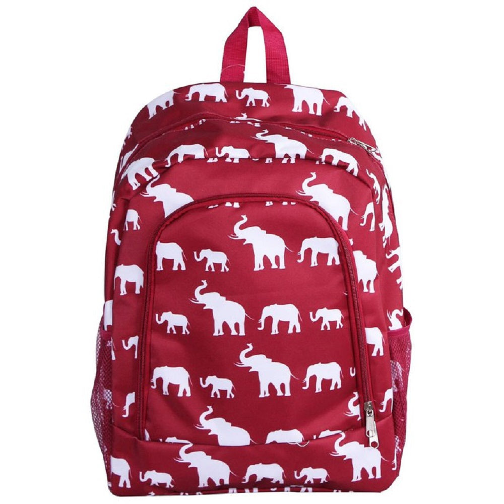 Elephant Printed Lightweight Backpack - 16.5