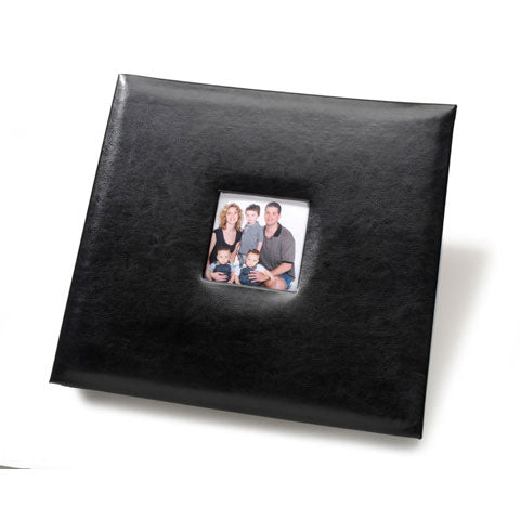 Scrapbook-Black Glitter Leather-12 x 12 Inches - SE Collegiate Gifts