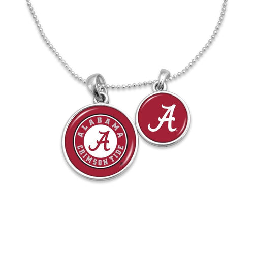 NCAA Duo Pendant Necklace with University Logos - SE Collegiate Gifts
