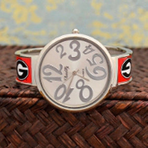 Georgia Bulldogs, Large Face, Cuff Watch - SE Collegiate Gifts