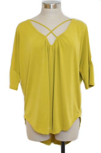 Plus Size Solid Mustard jersey knit top 1X, 2X, 3X - SE Collegiate Gifts