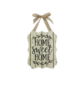 "Young's Wooden ""Home Sweet Home"" Plaque"