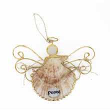 Load image into Gallery viewer, Angel Seashell Ornament, Choice of Anchor, Faith, Hope, or Ship - SE Collegiate Gifts
