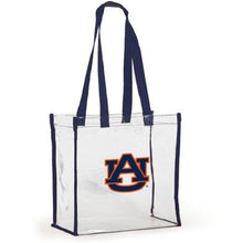 Load image into Gallery viewer, NCAA Clear Open Stadium Tote, Alabama Crimson Tide or Auburn Tigers - SE Collegiate Gifts
