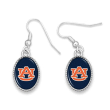 Load image into Gallery viewer, NCAA Drop Oval Logo Earrings Beaded Trim - SE Collegiate Gifts