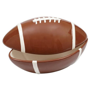 Football Ceramic Large Bowl with Lid - SE Collegiate Gifts