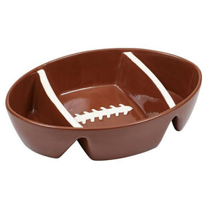 Football Ceramic 3 Section Dish - SE Collegiate Gifts