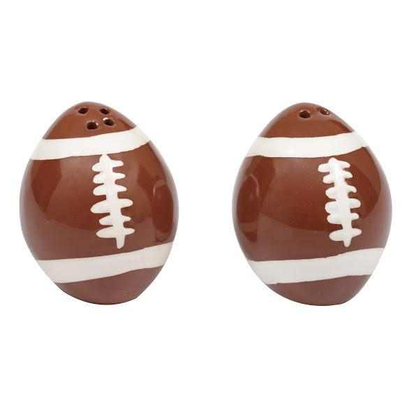 Football Salt and Pepper Shakers - SE Collegiate Gifts
