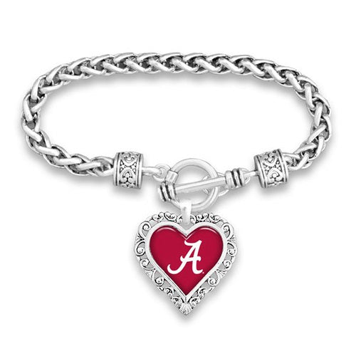 Alabama Heart Logo Bracelet - SE Collegiate Gifts
