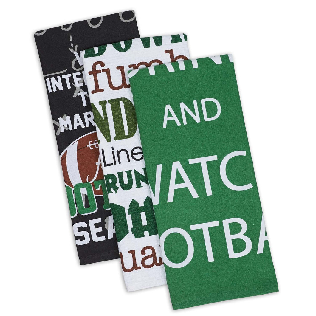 Everything Football Dishtowels Set of 3 - SE Collegiate Gifts
