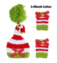 Load image into Gallery viewer, Crocheted Baby Christmas Hat and Legging Photography Prop - SE Collegiate Gifts