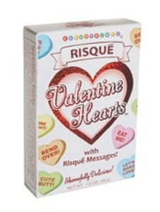 Risque Valentines Heart Candy - 1.6 oz Boxes - SE Collegiate Gifts