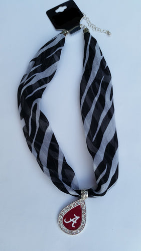 Alabama College Scarf Necklace - SE Collegiate Gifts