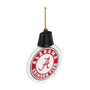 NCAA University Logo Acrylic LED Christmas Ornament - SE Collegiate Gifts