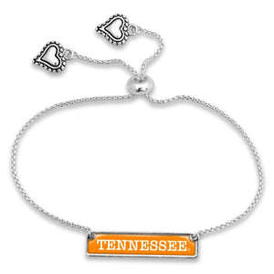 NCAA University Namebar Bead Slide Adjustable Bracelet - SE Collegiate Gifts