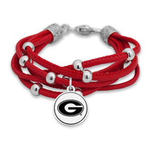 Load image into Gallery viewer, NCAA Multi Strand Randomly Beaded Logo Charm Bracelet  Multiple Teams - SE Collegiate Gifts