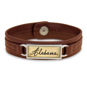 Alabama Crimson Tide Name Bar Bracelet