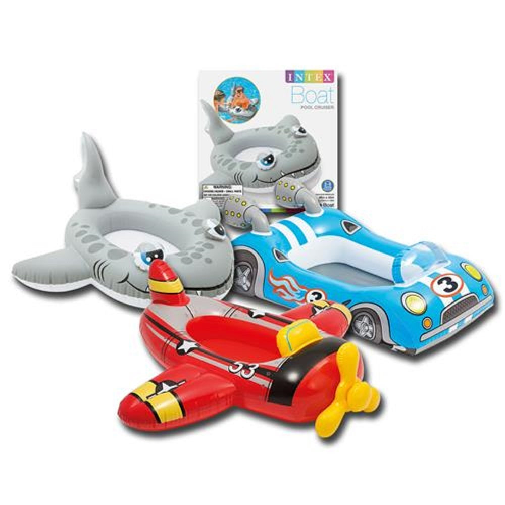 Water Cruiser for Little Kid, Choice of Fish, Plane, or Race Car Pool Float