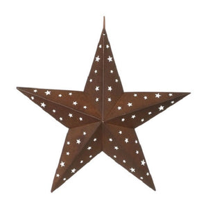 Tin Star with Star Cutouts, 17 inches
