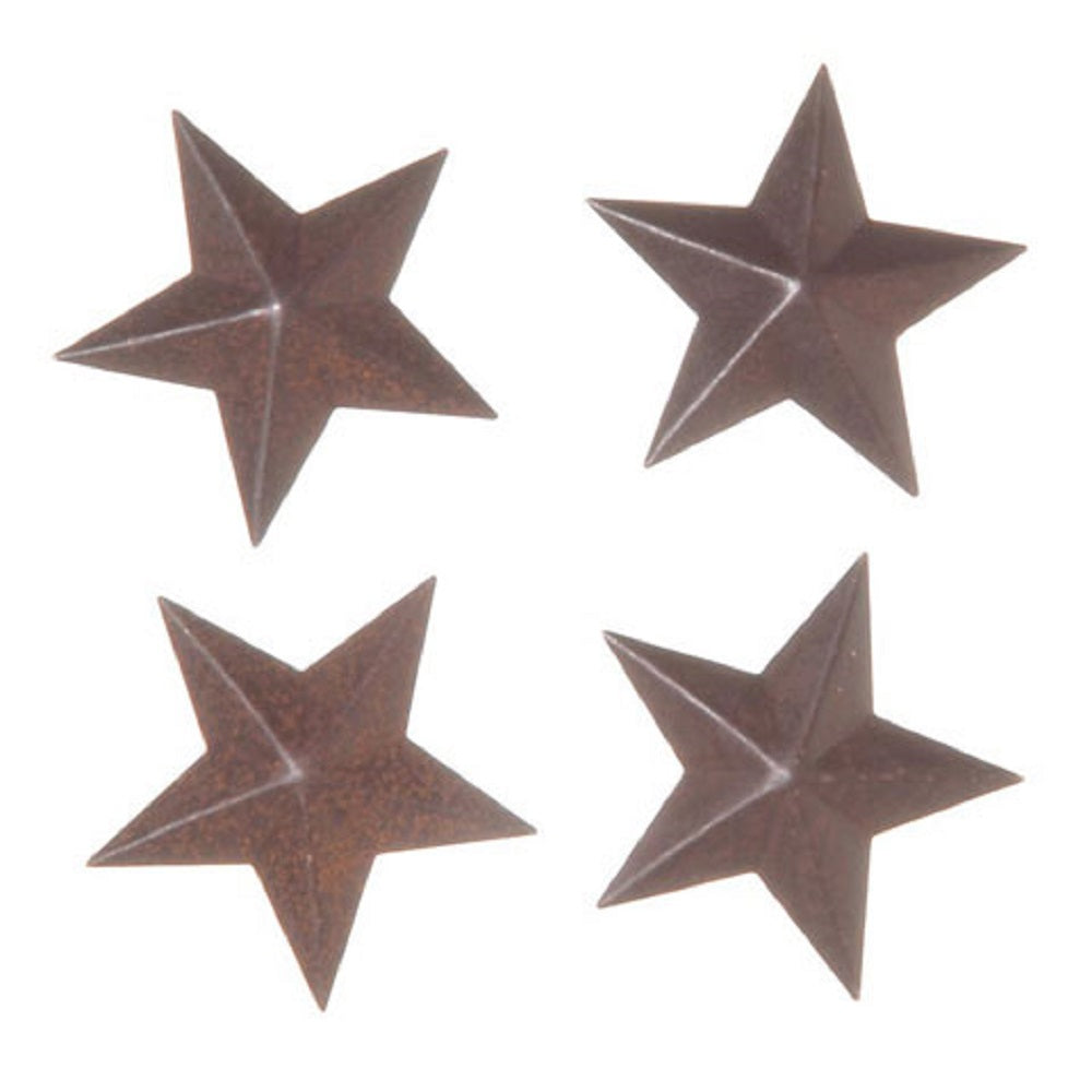 Stars 2D Tin Rustic 4 Piece Package 1.5 Inch